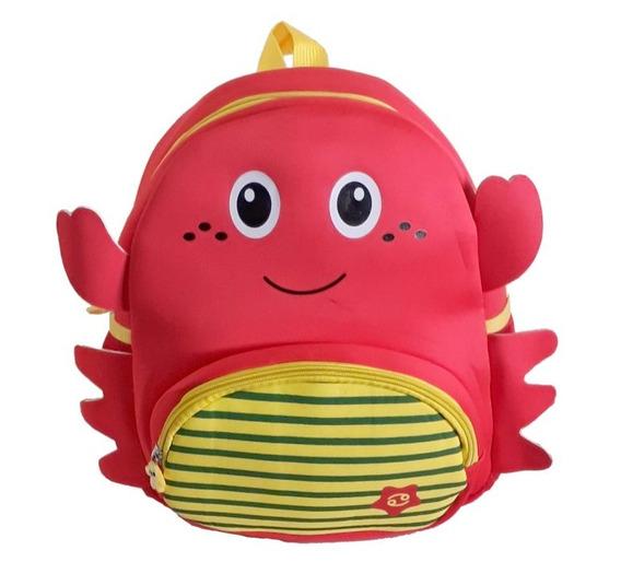 Mochila Infantil Baby Pets Sweet Vermelho Com Amarelo
