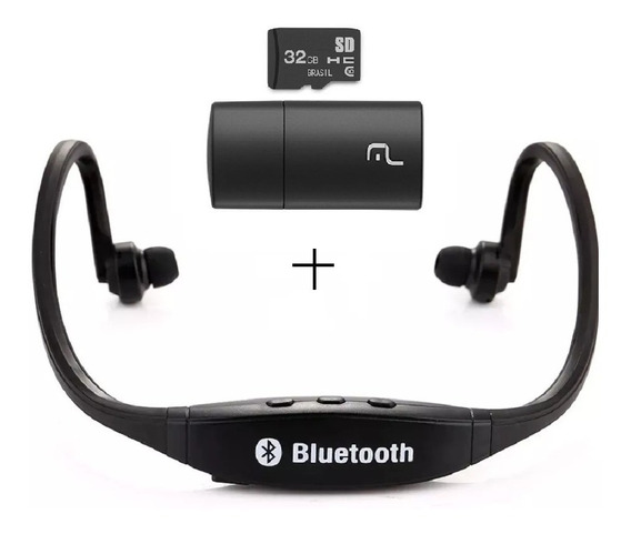 Handsfree Earphone 3 Em 1 C/ Bluetooth/sd/fm + Cartão D 32gb