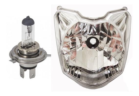 Bloco Do Farol + Lampada H4 Fazer 150 2014/2018 Plasmoto