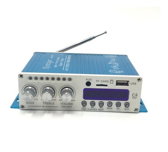 Amplificador Potência Bluetooth P/ Caixa De Som Dvd Pc Note