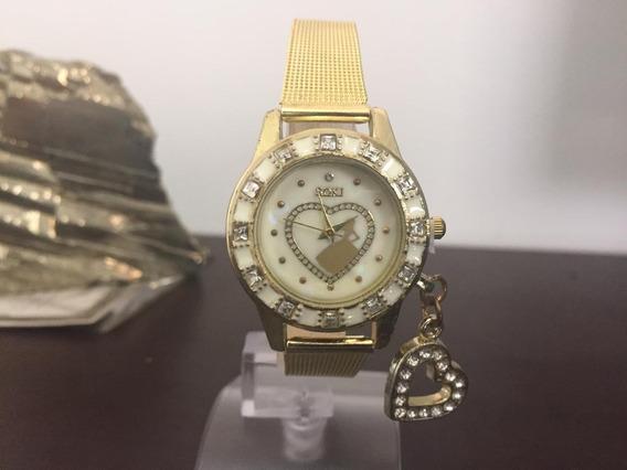 Relógios Feminino Coração Pingente Aço Inoxidável K3177