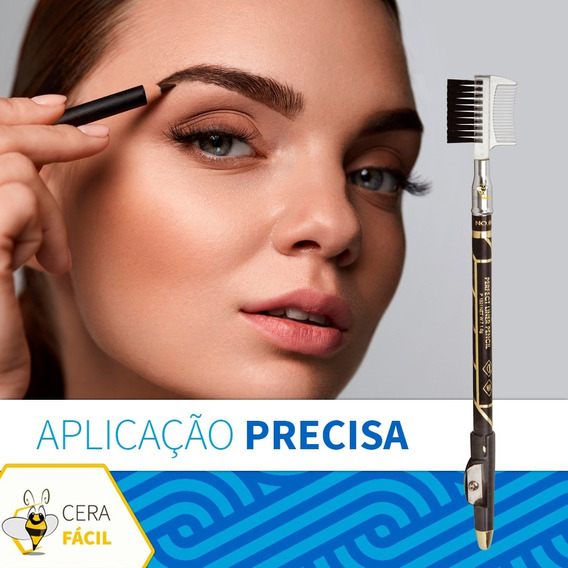 Lápis Delineador Apontador Pincel Preto Santa Clara - 12un