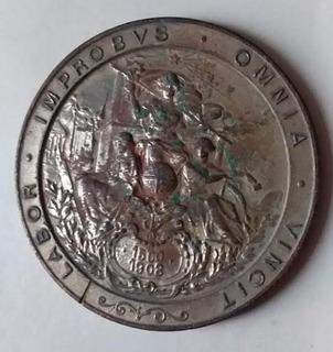1908 Medalha Exposição Nacional Rio Janeiro Rj Brasil / 1500