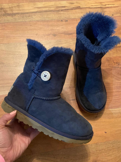 Padrisimas Botas Ugg Bailey Button Short Azul 22 Originales!
