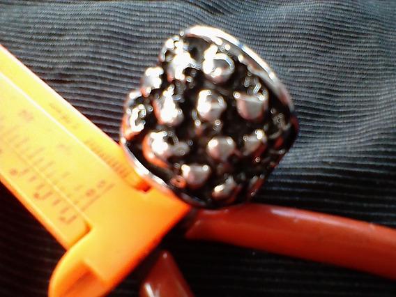 Anel Crânios Caveiras Aço Cromo Niquel Medida: 22mm