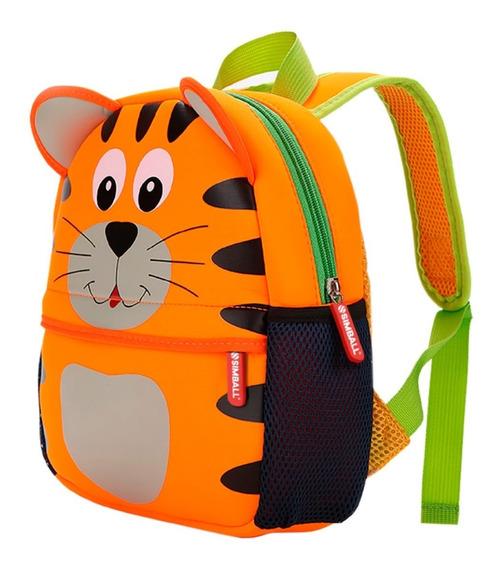 Mochila Animal Zoo Tigre Jardin Infantil Bag Simball Kids