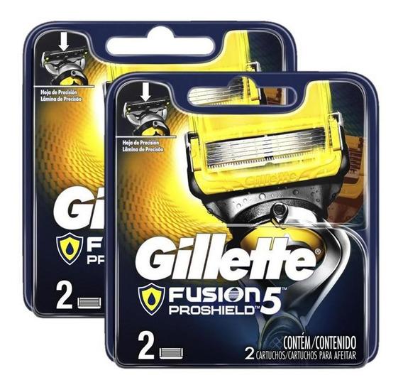 Cargas Gillette Proshield Com 4 Unidades