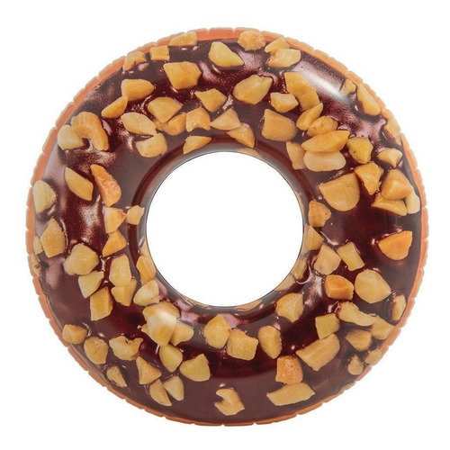 Boia Inflável Donut Chocolate Intex Piscina Pvc 114cm