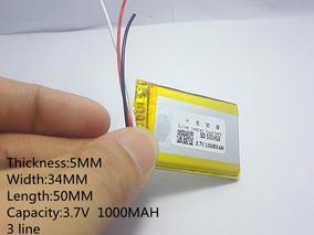 Bateria 3 Fios 3,7v 1000mah Gps