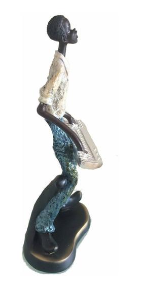 Estátua Escultura Tecladista Teclado Jazz Decoração Enfeite