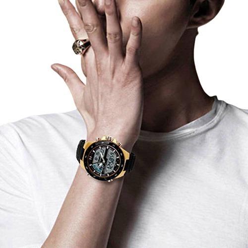 Relógios Masculino Dourado Skimei Barato + Ótimo Brinde