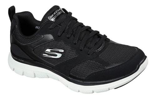 Imagen 1 de 1 de Zapatilla Negra Flex Appeal 4.0 Active Skechers