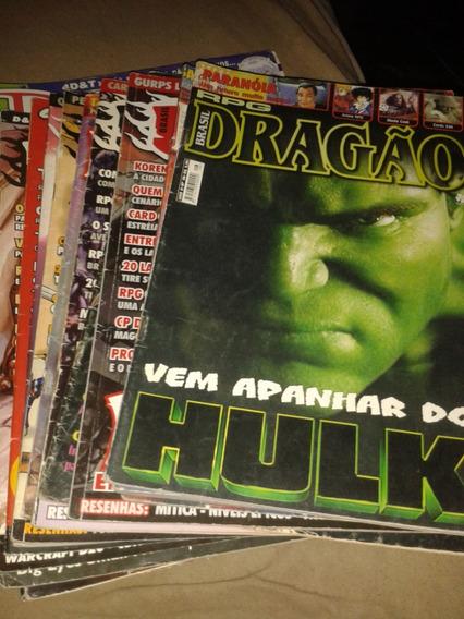 Coleção Revistas Dragão Brasil E Dragon Slayer