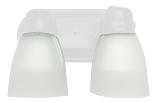 Aplique Baño Spot 2 Luces Oval Blanco Apto Techo Pared E27