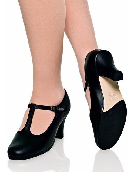 Sapato Feminino Boneca Com Correia E Fivela , Salto 6,5cm