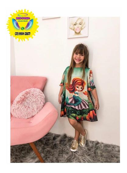 Vestido Infantil Moda Sereia Encantada