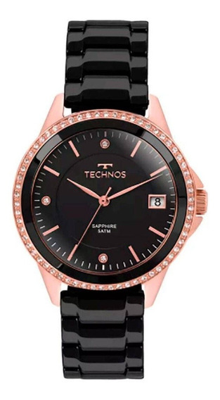 Relógio Feminino Technos Elegance Aço Preto/rosê 2315kzr/4p