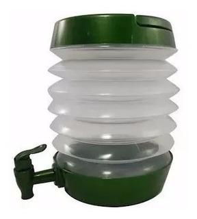 Bebedouro Garrafa Dobrável Galão Agua Portátil Viagem Verde