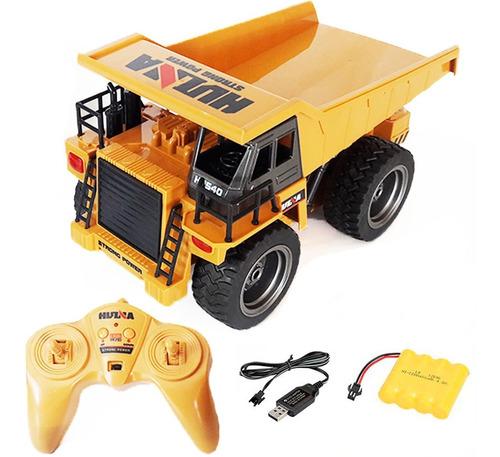Caminhão De Controle Remoto Dump Truck 6 Ch Completo Huina