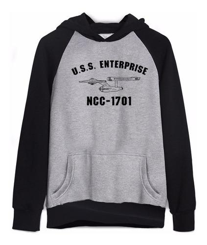 abfa14d9e1 Moletom Star Trek Jornada Nas Estrelas Ncc-1701 Enterprise - R$ 130,22 em  Mercado Livre