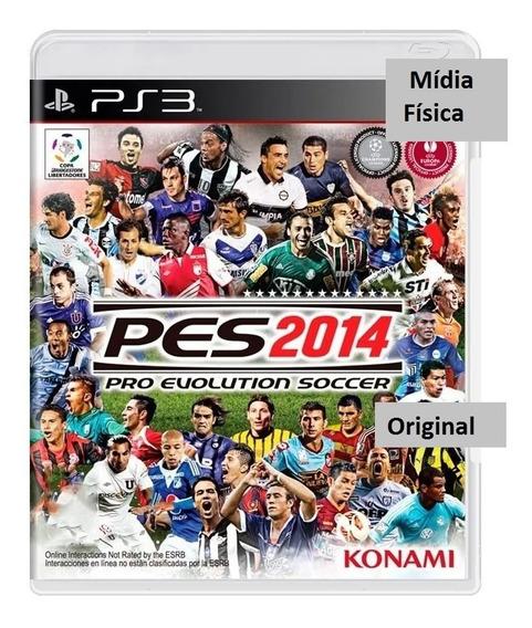 Jogo De Futebol Playstation 3 Pes14 -- Original---- Físco---
