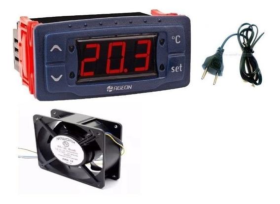 Termostato,temporizador,ventilador Profissional, Cabo De Energia