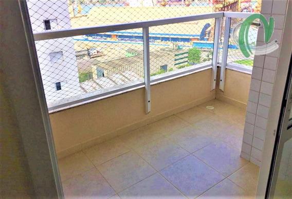 Apartamento Com 3 Dormitórios Para Alugar, 77 M² Por R$ 2.500/mês - Ponta Da Praia - Santos/sp - Ap0377