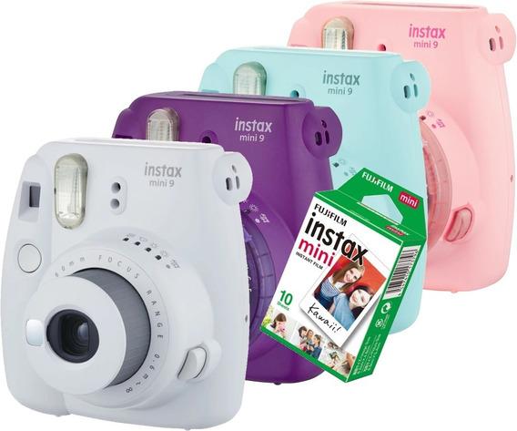 Camera Instax Mini 9 Fujifilm Instantânea 10 Filmes D Brinde