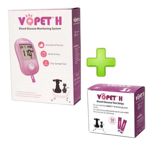 Medidor De Glucosa Vqpet Vgm30  + 60 Tiras Veterinario