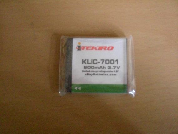 Pila Bateria Marca Itekiro Kodak Klic-7001 3.7 Volt 800 Mah