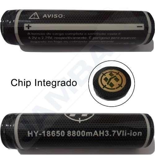 2 Baterias 18650 Original Hy 8800mah 12hrs E 1 Carregador
