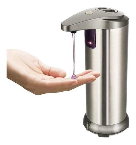 Dispensador Automático Acero Inox Jabón Alcohol Gel Crema