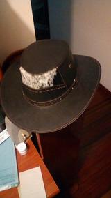Sombrero En Cuero Nuevo Talla 57
