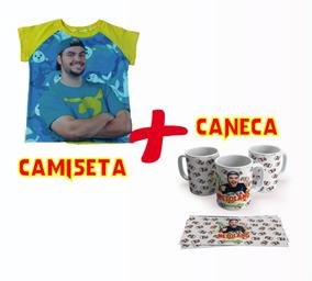 Kit Luccas Neto Caneca + Raglan Menino/menina