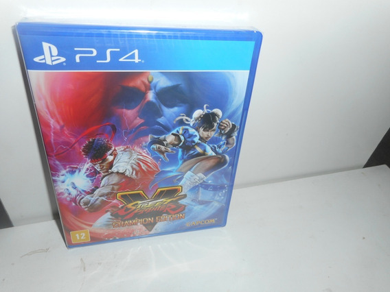Street Fighter V Champion Edition Ps4 Mídia Física Lacrado