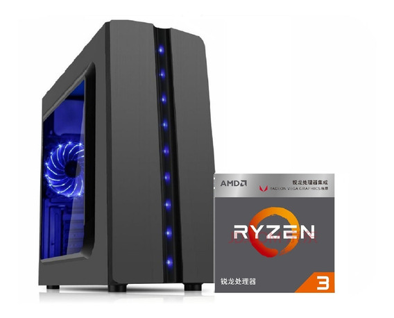 Pc Gamer Ryzen3 2200g Vega Granphis8 8gb Ram Hd1tb 500w