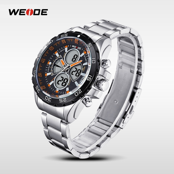 Relógio Masculino Weide Wh1103-2c Aço Inox Frete Grátis