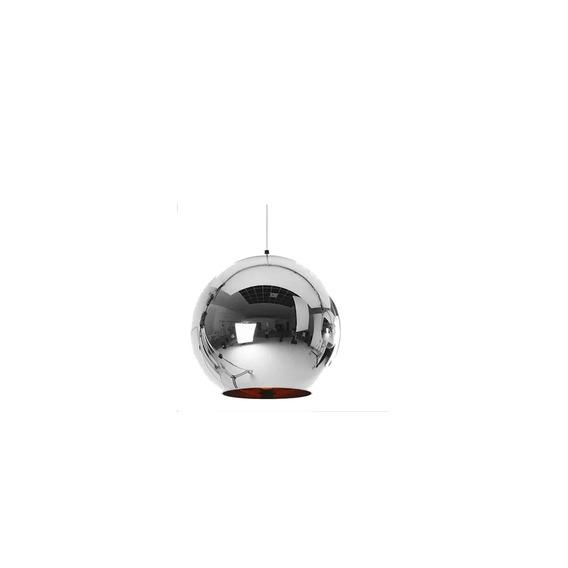 Lustre Pendente Vidro Cromado Tom Dixon - Chrome Shade Ø25cm