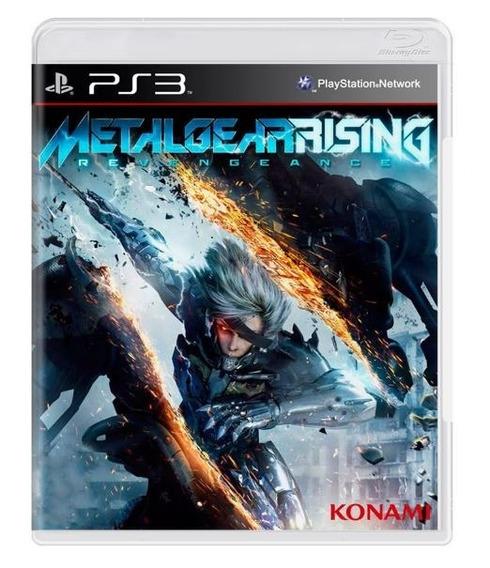 Jogo Metal Gear Rising Revengeance Ps3 Mídia Física Lacrado