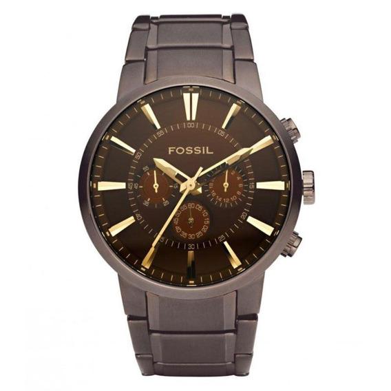 Relógio Fossil Marrom Em AçoFs4357/1mn