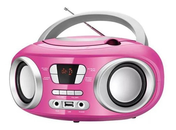 Radio Mondial Electronic Up Pink Cd Usb Mp3 Bivolt