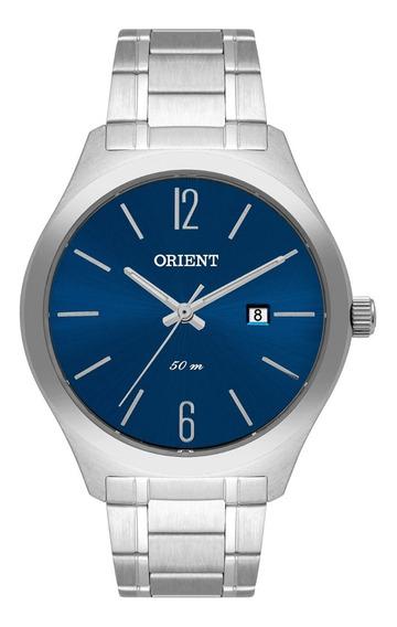 Relógio Orient Masculino Mbss1362 D2sx Prata Azul Analógico