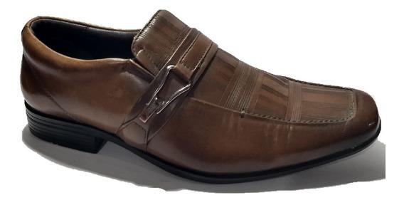Sapato Social Masculino Marrom Com Listras Marca Jota Pe