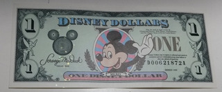 Billete Disney - Mickey 1 Dollar 1999