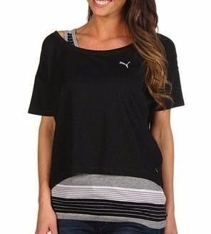 Camiseta Feminina Puma Cropped Core Pró Luxe Corte Grande