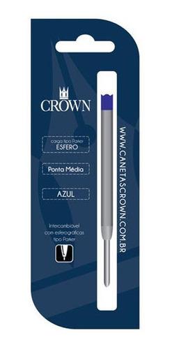 Carga Refil Crown Caneta Esfero Ca12009 Original
