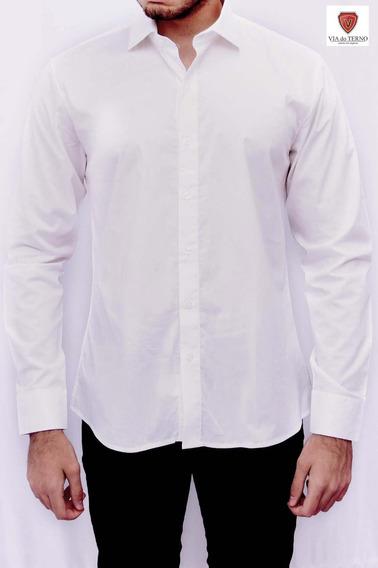 Camisa Social Slim 100% Algodão.