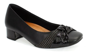 Sapato Feminino Slim Trançado Usaflex Preto