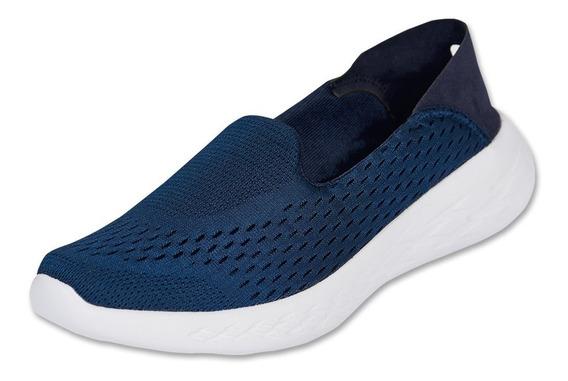 Calzado Dama Mujer Zapato Sneaker Gosh Textil Marino Comodo