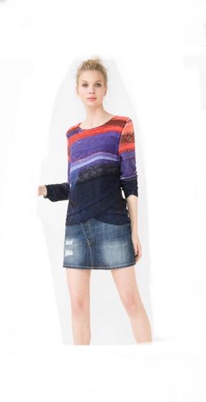 Suéter Desigual Mujer Morado